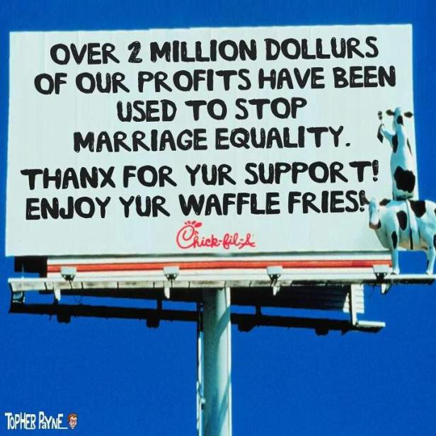 Image result for chick fil a homophobic