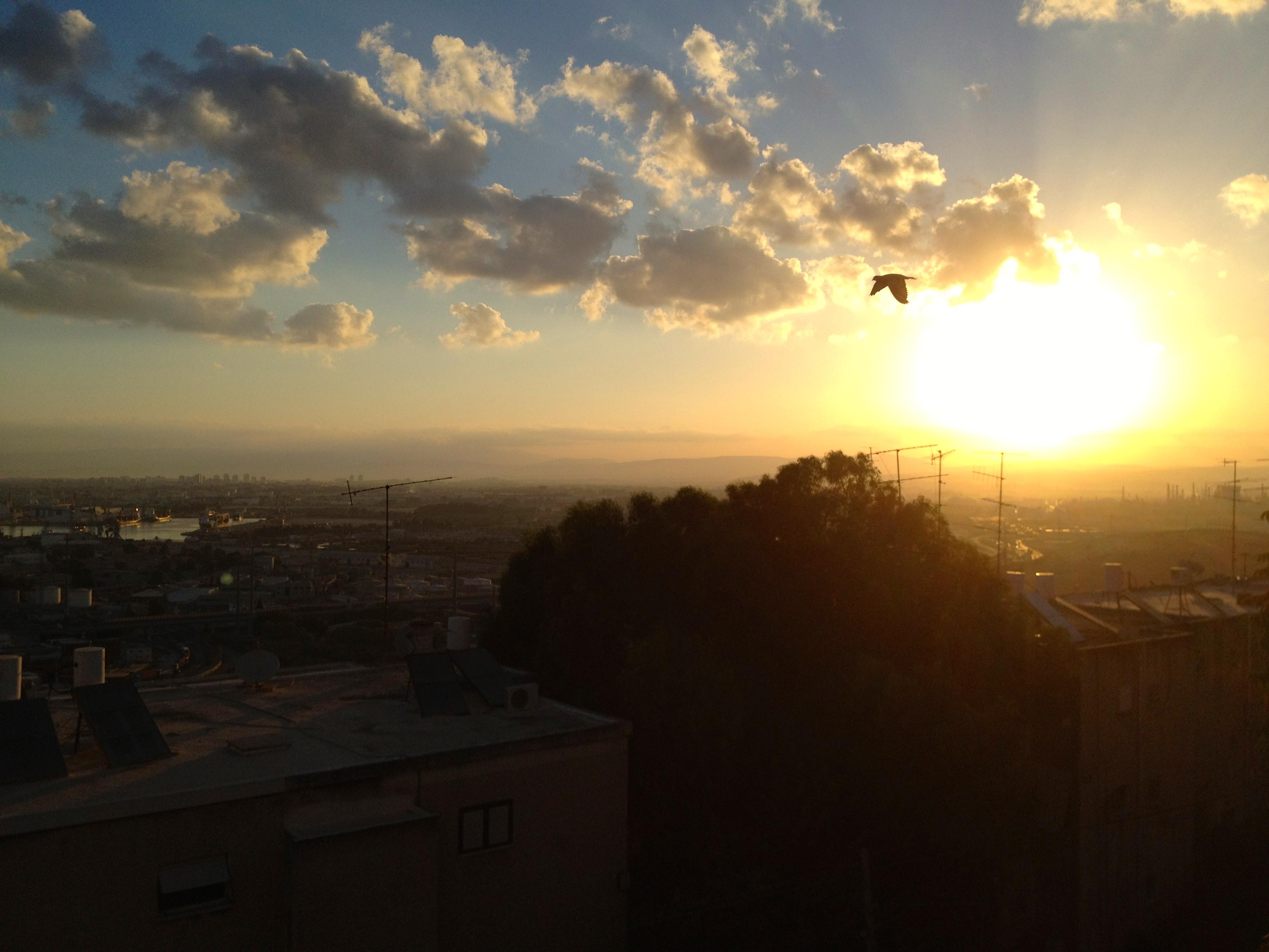 Sunrise over Haifa