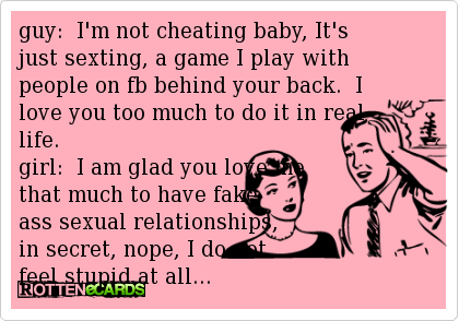 Sexting cheating or not